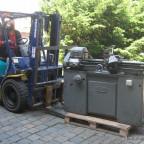 Ankunft und Einlagerung meiner Maschinen