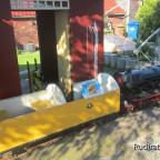 Post/Gepäckwagen am Güterschuppen