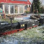 Mörteltransport für Mauerarbeiten Baustelle Terrasse