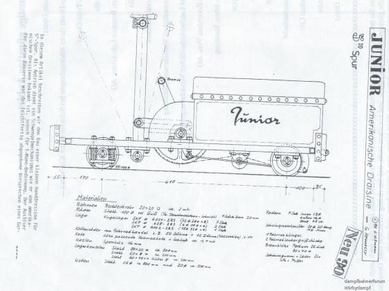 Handhebeldraisine aus Dampfbahner 1990