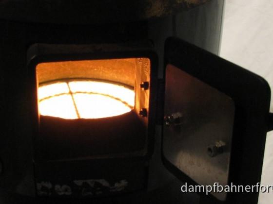 Keramikgasbrenner 170 mm im Betrieb