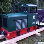 Jasper mit Feldbahnlore H2 als Kipplore (im Rohbau)