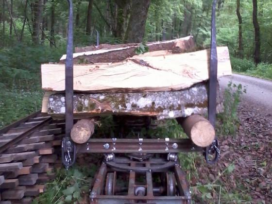 einmetrige Hartholzscheite