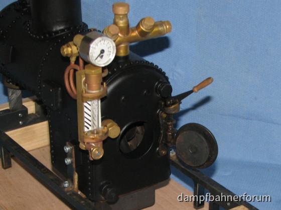 Dampfzwergkessel - Stehkesselrückwand