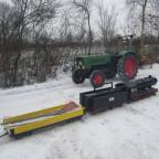 Erste Zugfahrten im Schnee