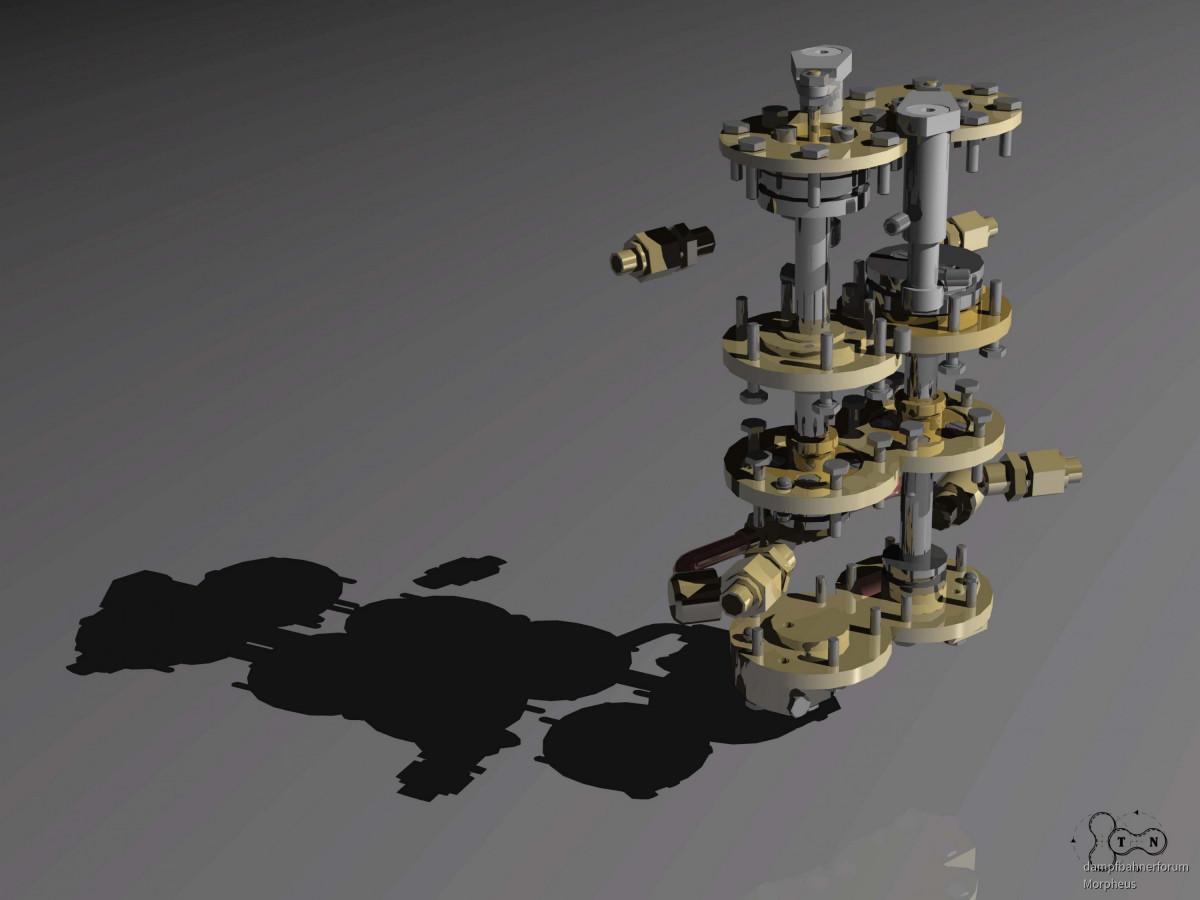 Doppelverbund-Dampfluftpumpe 02