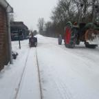 Wintereinsatz - Testfahrten auf verschneiten Gleisen
